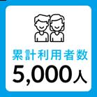 累計利用者数5,000人