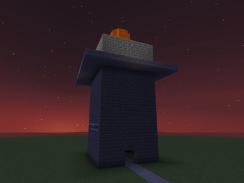 闇夜にそびえる魔王城